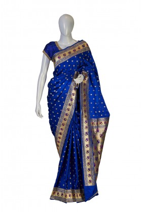 Banarasi Silk Royal Blue Saree