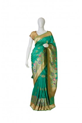 Banarasi Silk Sea Green Saree