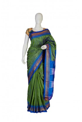 Pure Silk Fancy Green Saree