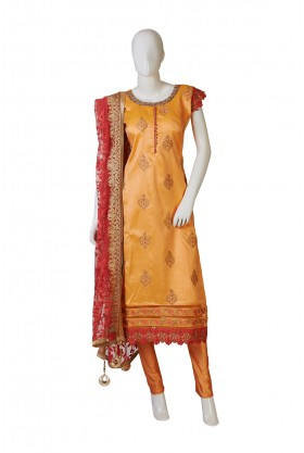 Kesari And Red Indo Western Dress