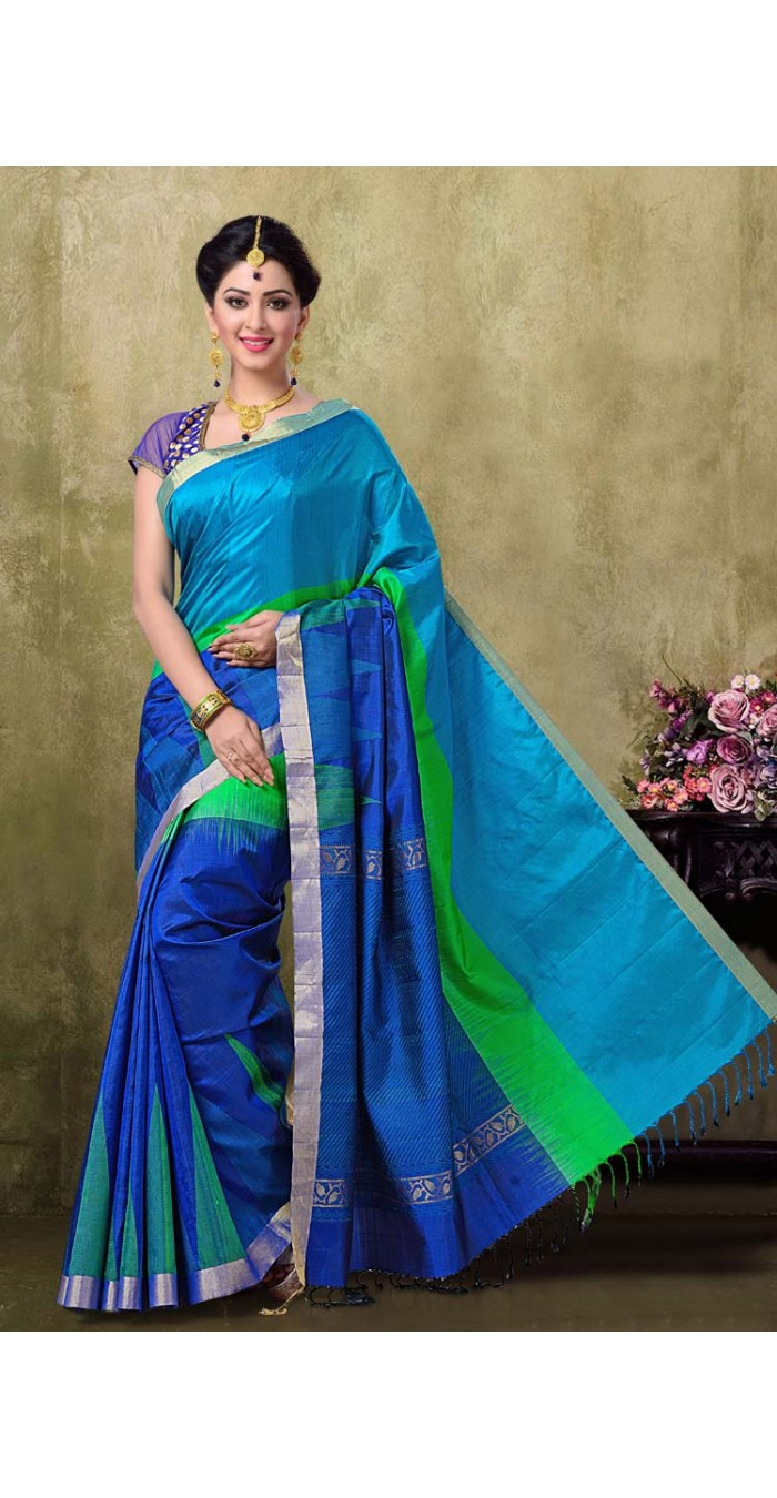 Kanjivaram Royal Blue Color Saree