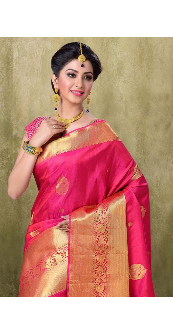 Kanjivaram Rani Color Saree