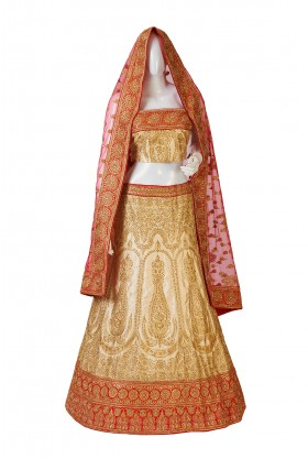 Traditional Dupion Silk Lehenga