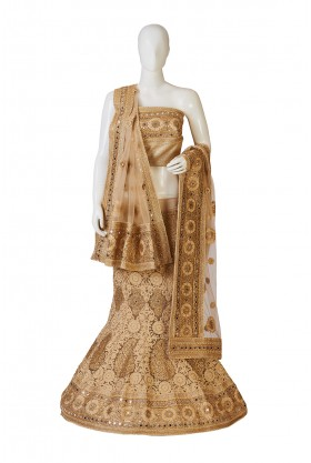 Fashionable Cream Chicory Lehenga