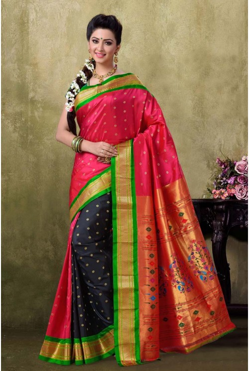 Paithani Rani Color Saree