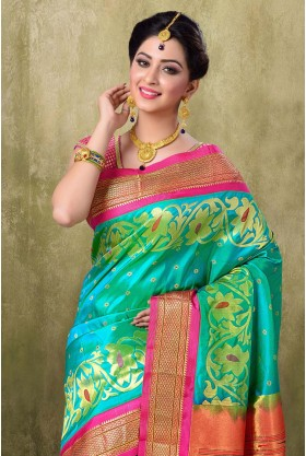 Paithani Sea Green Color