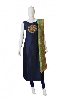Royal Blue, Sea Green Salwar Kameez