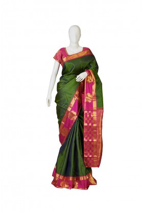 Elegant Green Soft Silk Saree