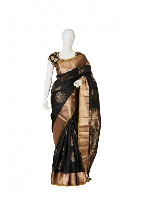 Ethnic Soft Silk Black Saree