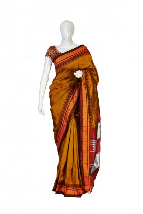 Pure Silk Mastard Irkal Saree