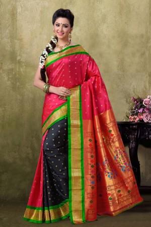 Paithani Rani Color Saree